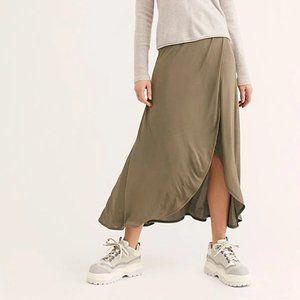 Free People Smoke & Mirrors Faux Wrap Skirt